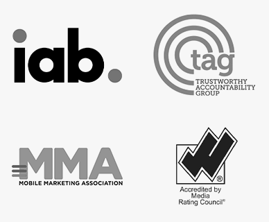 IAB, Media Rating Council, Mobile Marketing Association and TAB logos